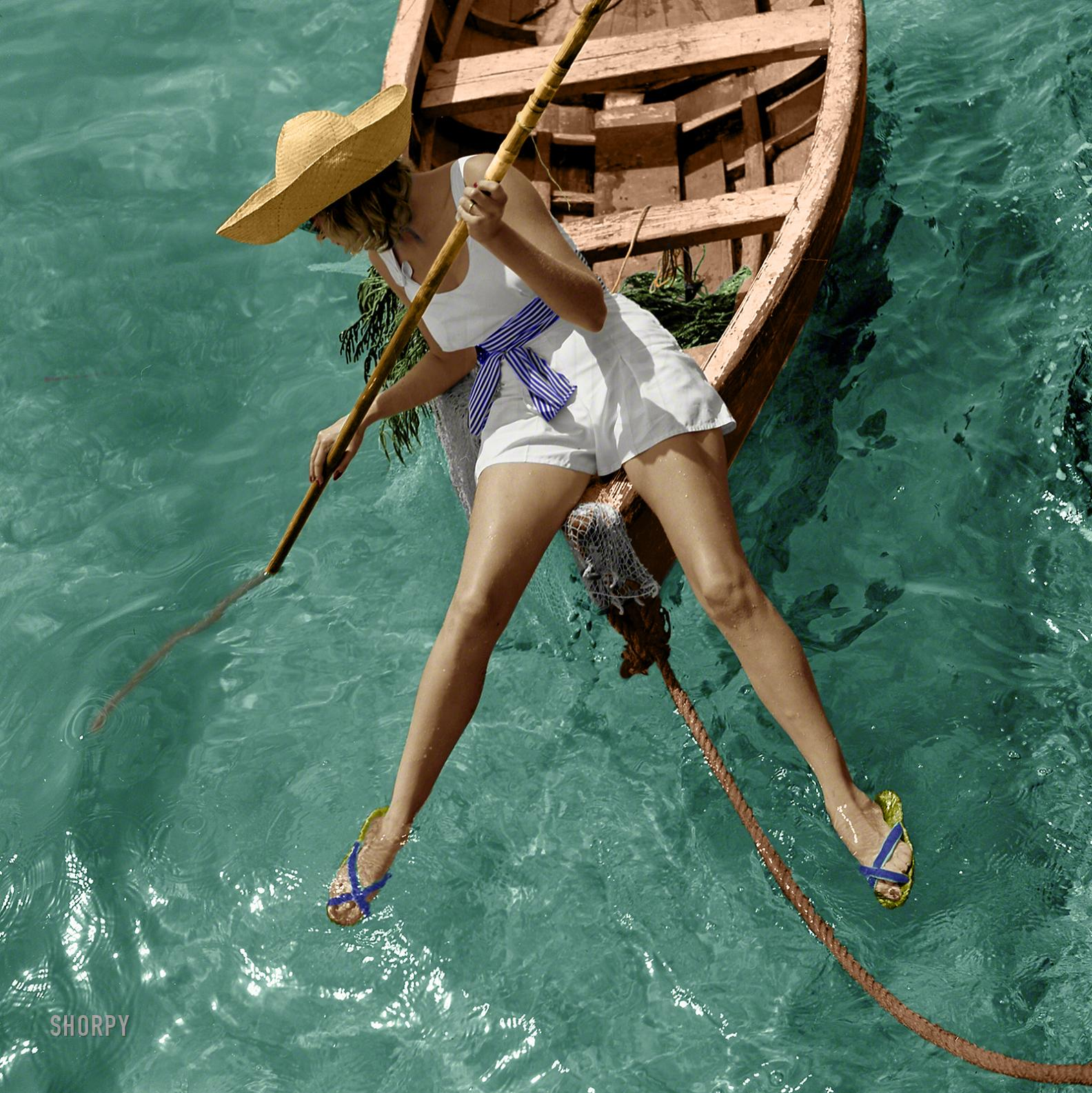 Модель купальных костюмов Тони Фрисселл, Маринеланд, штат Флорида, 1938
